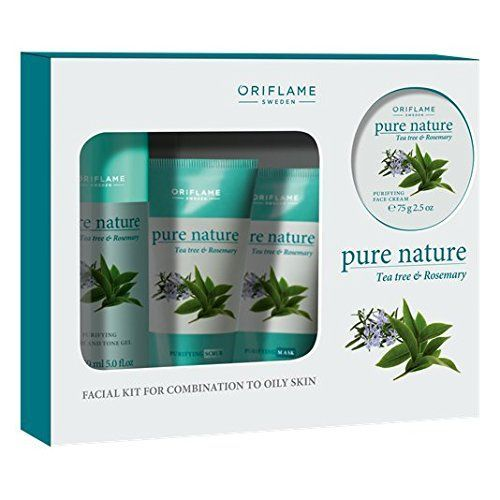 #Oriflame #Pure #Nature #Tea #Tree And #Rosemary #Facial #Kit For #Combination To #Oily #Skin Cleanse: get soft and glowing #skin. Apply on wet #skin to cleanse then rinse with water Scrub: deeply cleanse and exfoliate by massaging scrub on wet face for 4-5 mins. Rinse with water Massage: moisturise and soothe your #skin by massaging face cream on dry face for 10-15 mins. Gently wipe off. https://skincare.boutiquecloset.com/product/oriflame-pure-nature-tea-tree-and-rosemary-f