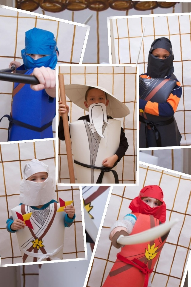 how to make a ninja costume out of paper
