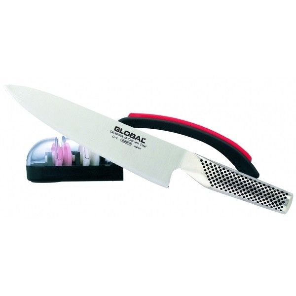 2 PC Knife & Sharpener set 71G2220BR Price: $149.99 Set comprises of G2 Chef Knife & Mino Sharp 220. To order call 905·885·9250.