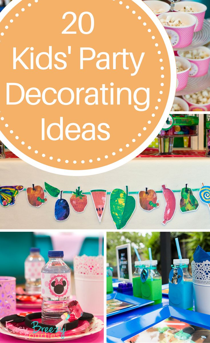 20 ideas for easy kids party decorations, by kids party planning guru Easy Breezy Parties
