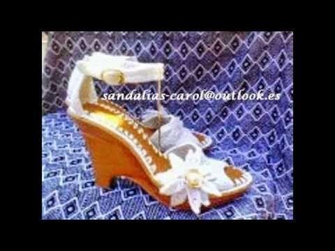 Sandalias tejidas en Crochet D' Carol - YouTube