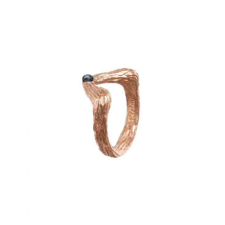 antipearle ring czech fashion