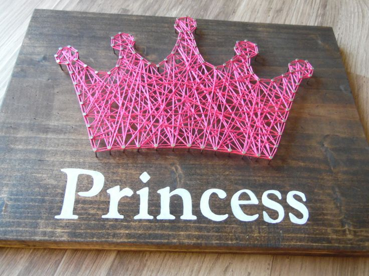 String Art Princess Cute For Little Girls Room  https://www.etsy.com/listing/448697014/crown-string-art-princess-art-princess?ref=shop_home_active_47