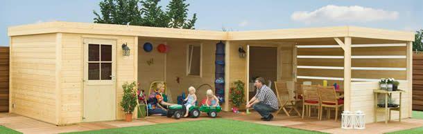 Infinity serie tuinhuisjes met plat dak van Bear County - Maison et décoration - Jardinage - Bear County