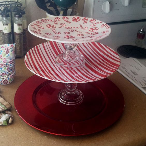 Cake Stand | Click Pic for 20 DIY Christmas Decorations for Home Cheap | DIY Christmas Decorations Dollar Store