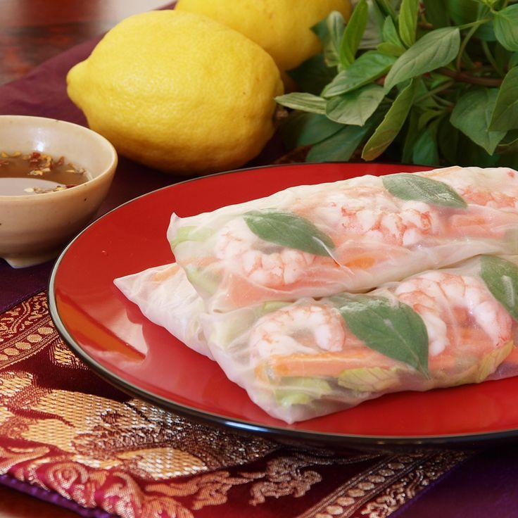 how to make rice wrapped shrimp