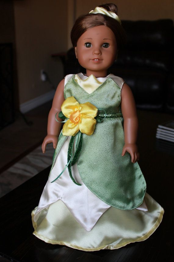 American Girl Doll - Green Lily Pad Doll Gown Inspired by Tiana