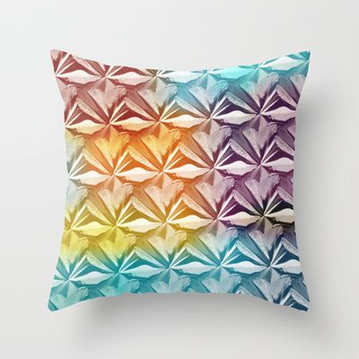 PYRAMID PATTERN Throw Pillow by hardkitty - $20.00