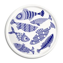 """ARY TRAYS"" Ary Trays Blue Fish Large Round Tray at Heal's"