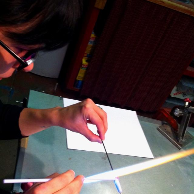 Making glass...