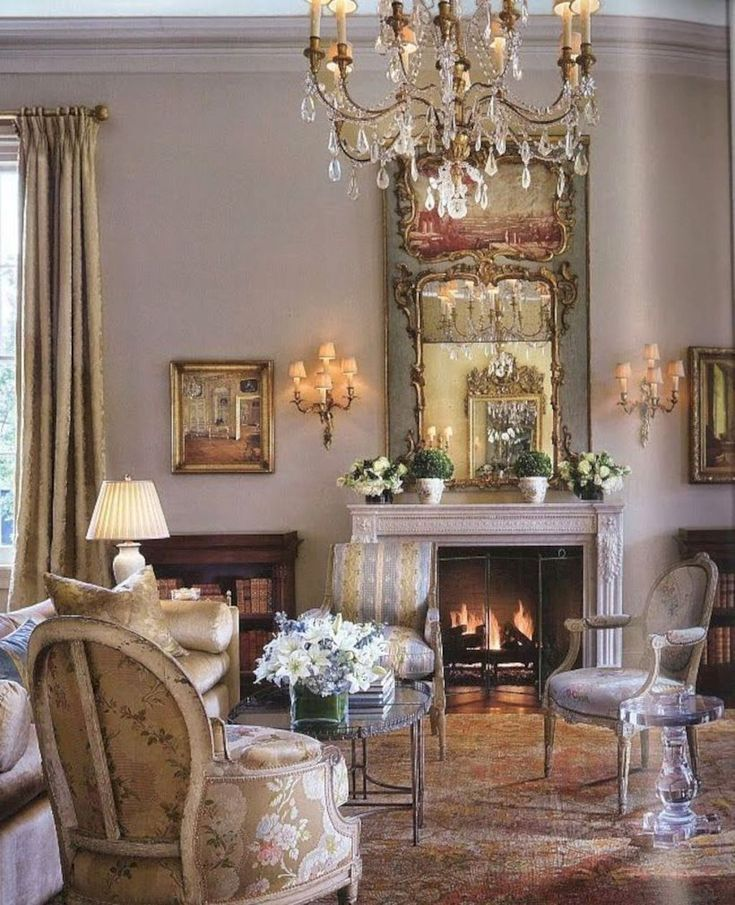Fancy French Country Living Room Decor Ideas (67)