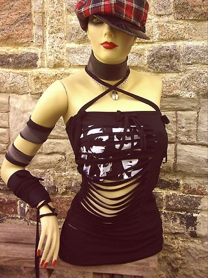 YoubadGirl sexy survivor slit slash top DIY handmade by YouBadGirl, $40.00