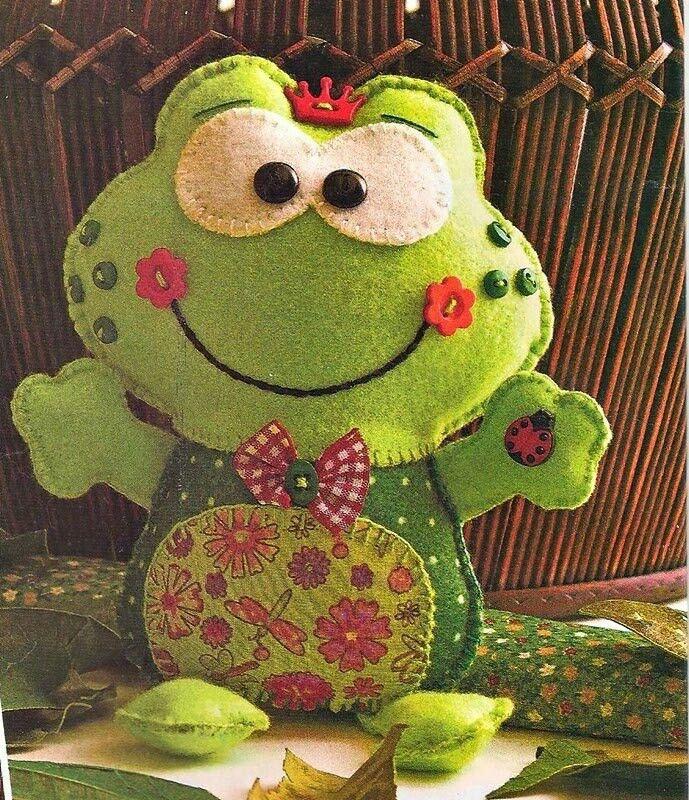 felt frog cute