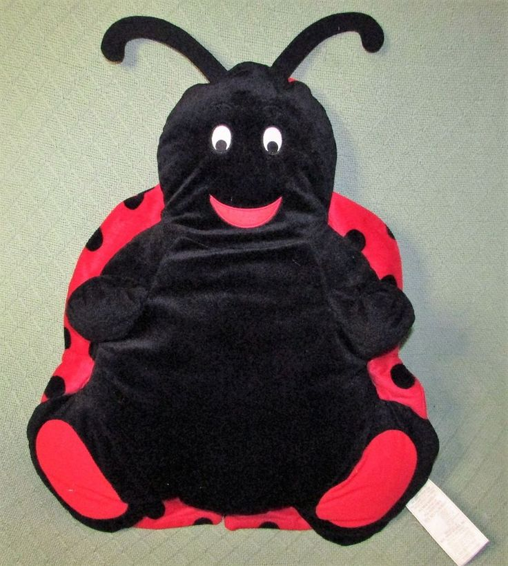 "Large LADYBUG Pajama Bag Plush Stuffed Red Black PJ Pouch Pocket 27"" Walmart Toy #Walmart"