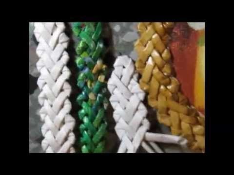 """▬► Плетение узора """"зубатка"""" (елочка) с шестью концами. - YouTube"""