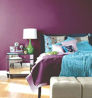 The hues of both purple and blue combine both clean and polite feelings with artistic and regal.