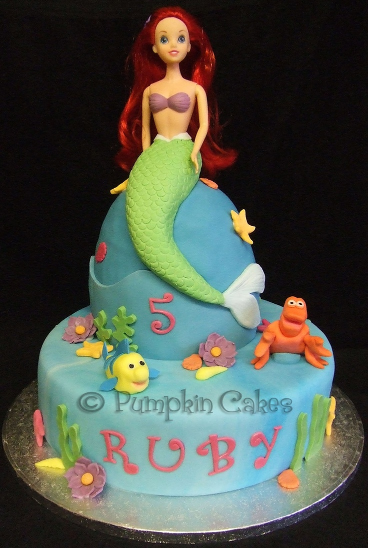 Cake Decoration Doll : 103 best images about little mermaid cake on Pinterest Mermaids, Ariel and Mermaid birthday cakes