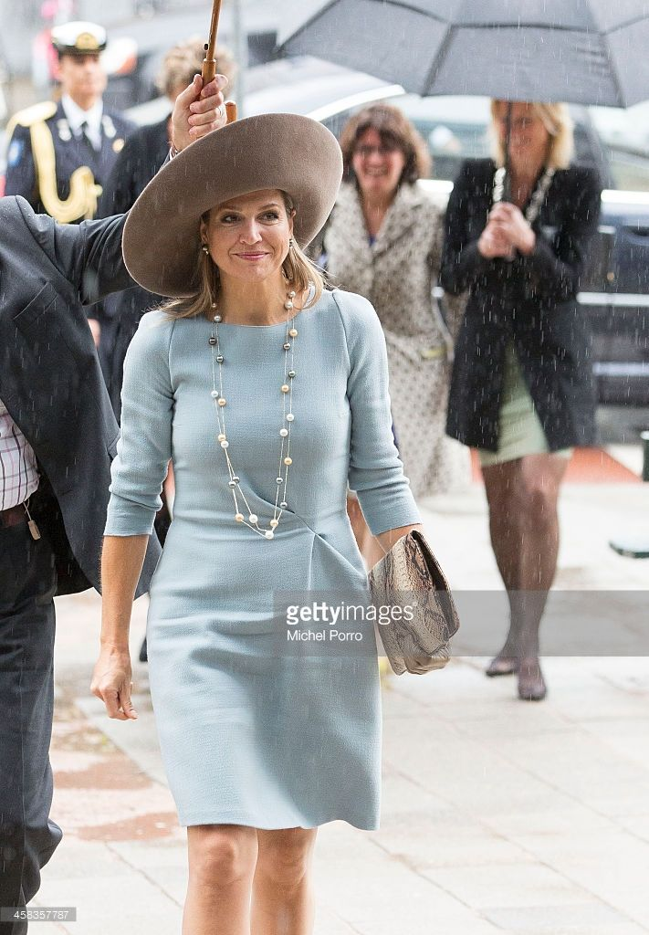 Queen Maxima of The Netherlands arrives for the opening of the new visitor center of the Netherlands Bank on September 22, 2015 in Amsterdam,  Netherlands. (Photo by Michel Porro/Getty Images)