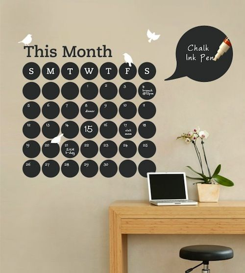 love this! DIY blackboard calendar    I also like the idea of making a wall in your kids room a black board so they can go nuts and draw on the walls!