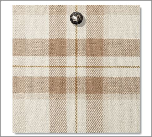 Fabric by the Yard - McAllister Plaid | Pottery Barn    Dining room and kitchen curtains?