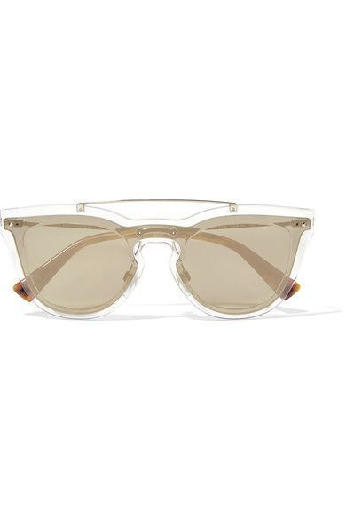Valentino - Cat-eye Acetate And Gold-tone Sunglasses - one size