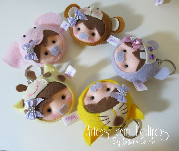 Lembrancinhas Baby Safari Júlia  Artes em Feltros by Juliana Cwikla