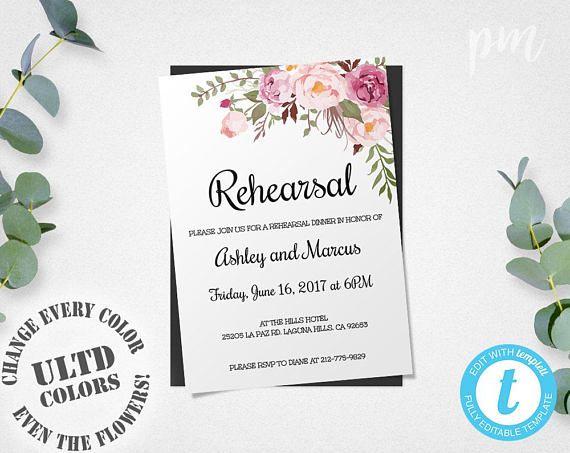 16 best Wedding Rehearsal images on Pinterest Rehearsal dinner - best of wedding invitation maker laguna