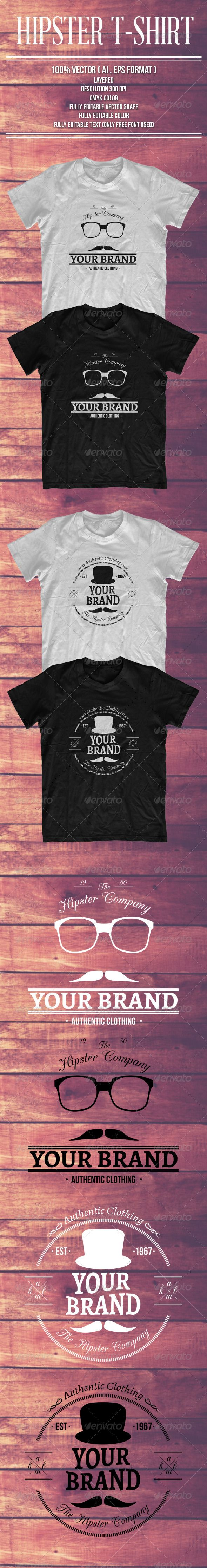 Shirt design resolution - 2 Hipster Style Tshirts