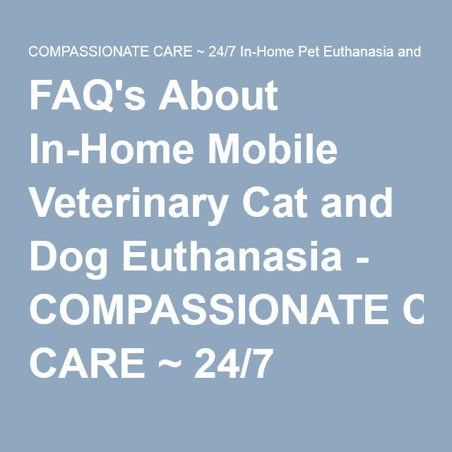 FAQ's About In-Home Mobile Veterinary Cat and Dog Euthanasia - COMPASSIONATE CARE ~ 24/7 In-Home Pet Euthanasia and Pet Cremation Service 503.880.1172