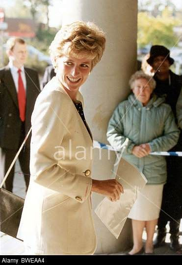 1993 The Princess Of Wales Arriving At St Georges Hospital