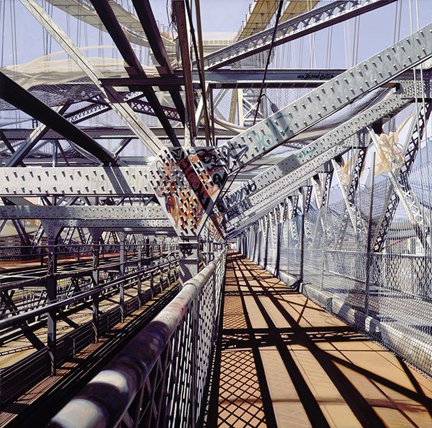 Monday morning inspiration, Williamsburg Bridge by Richard Estes #photorealism #painting