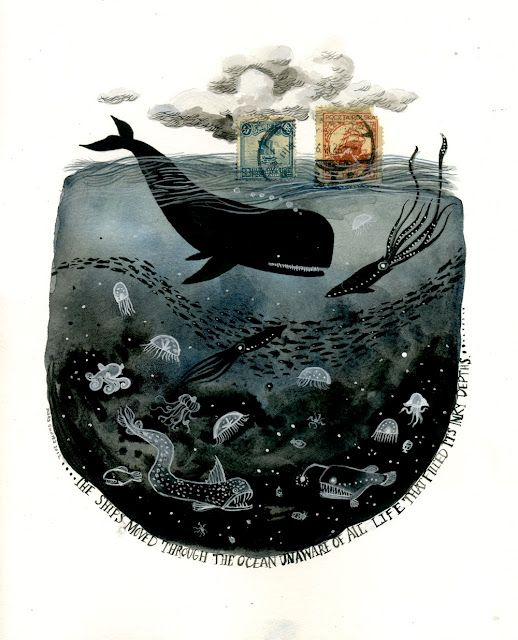 """""""the ships moved through the ocean unaware of all the life that filled its inky depths."""""""