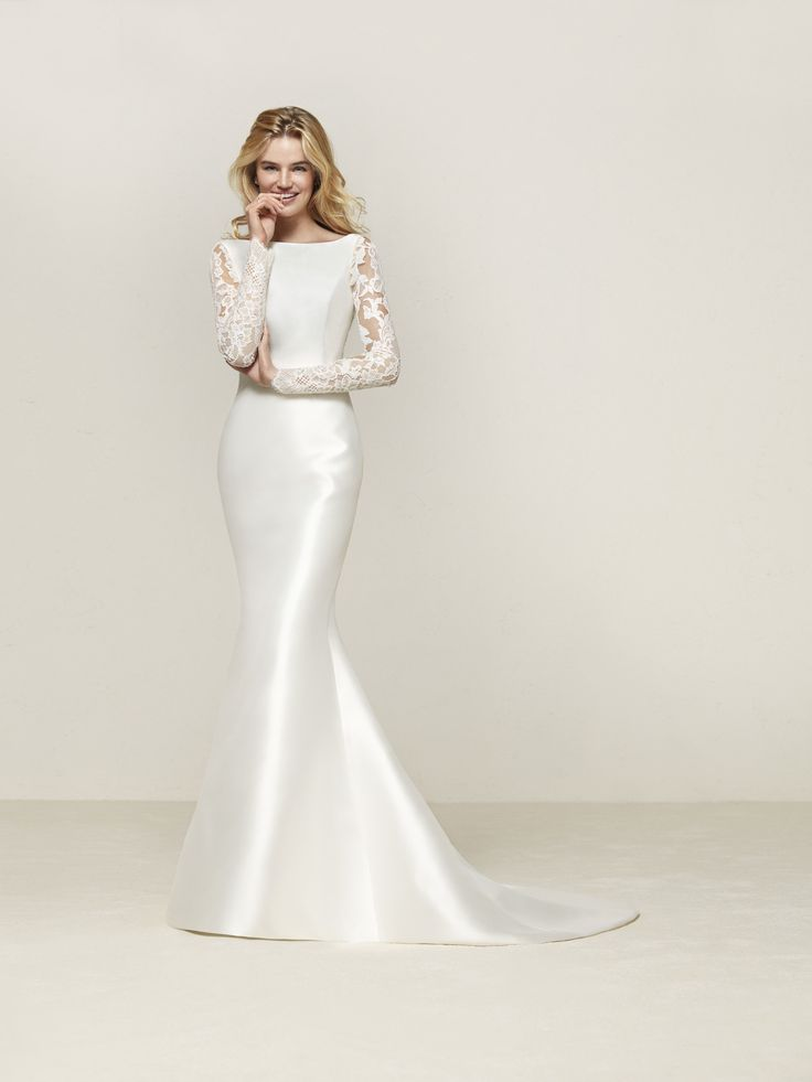 Robe de mariée sirène avec poches