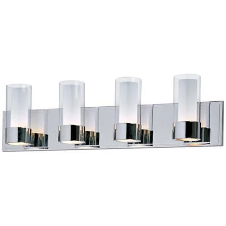 Maxim Silo Polished Chrome 4 Light Bathroom Light Fixture $278.90 |  LampsPlus.com