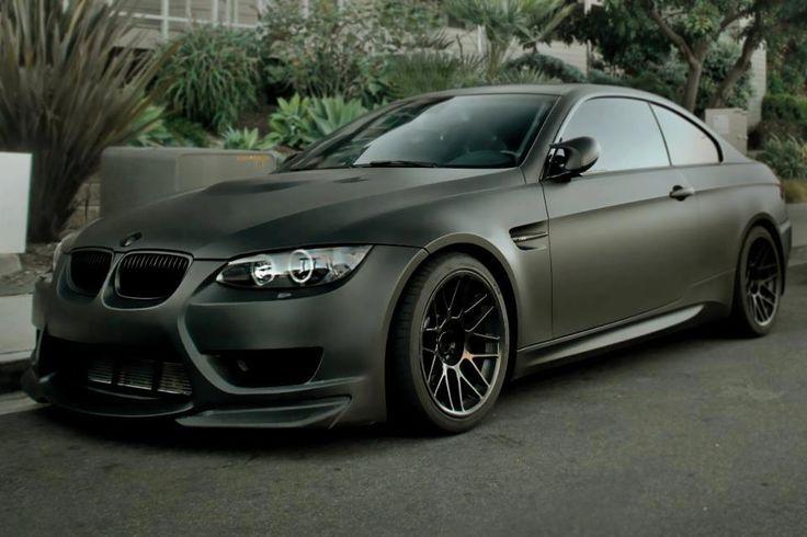 Bmw M3 E92 Matte Black Bmw Cars Bmw Automobile