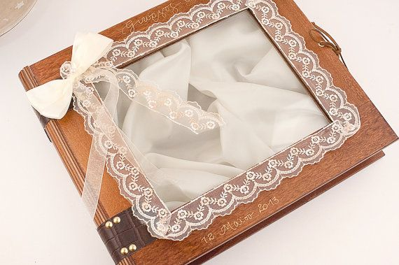Wedding Stefana Case  Brown wood with lace by LenaWeddings on Etsy,