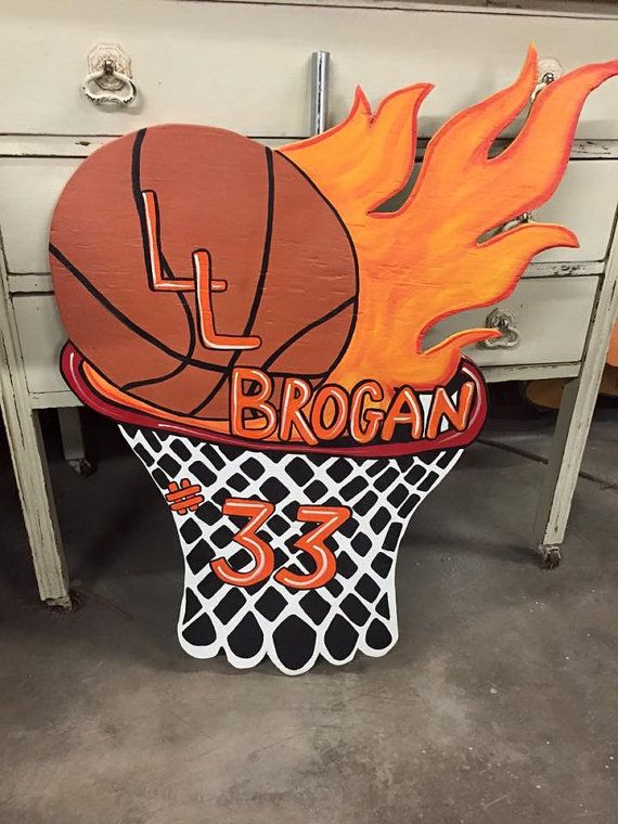 Custom Sports / Basketball Yard Art /  Sign by fabsspiritcentral