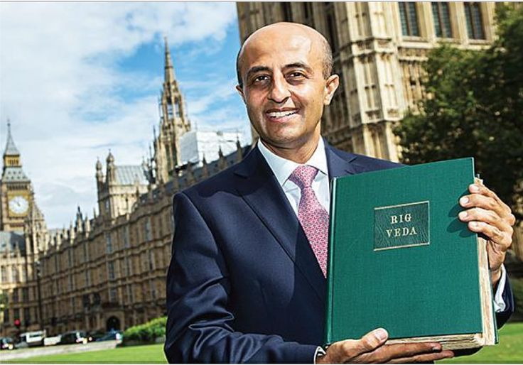 The newest Indian-origin peer of Britain swore his oath of allegiance to Queen Elizabeth II on the Rig Veda marking his entry to the House of Lords.  JiteshGadhia, 49, a Gujarati-origin investment banker ensured that the Rig Veda enters its Parliament. The British Indian banker was one of the closest aides to the British Prime Minister David Cameron during his tenure and was nominated for his Peerage as part of the resignation honours list of the former Prime Minister.