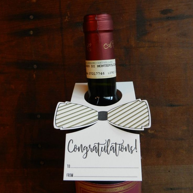 Congratulations Letterpress Bottle Bow Tie by Typothecary Letterpress