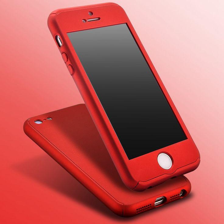 Nuevos grados de cobertura de 360 case para iphone 5 5s se 5g plating cubierta dura de la pc para el iphone se lujo armor case + vidrio película