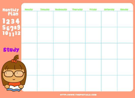 FREE printable week planner – sooooo cuuuuuute ♡♡♡