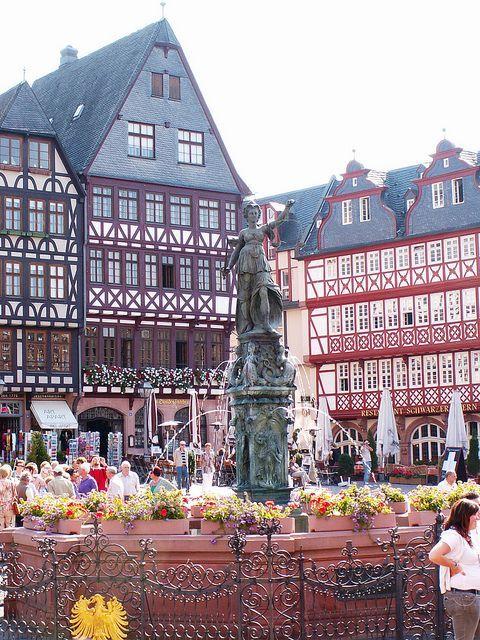 Frankfurt,Germany - Spent lots of time in the Romer Platz in Frankfurt!