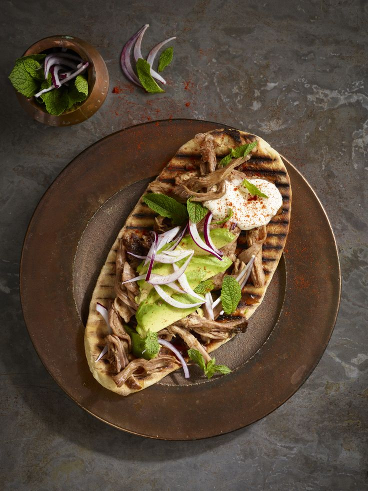 Lebanese Pulled Pork Flatbread