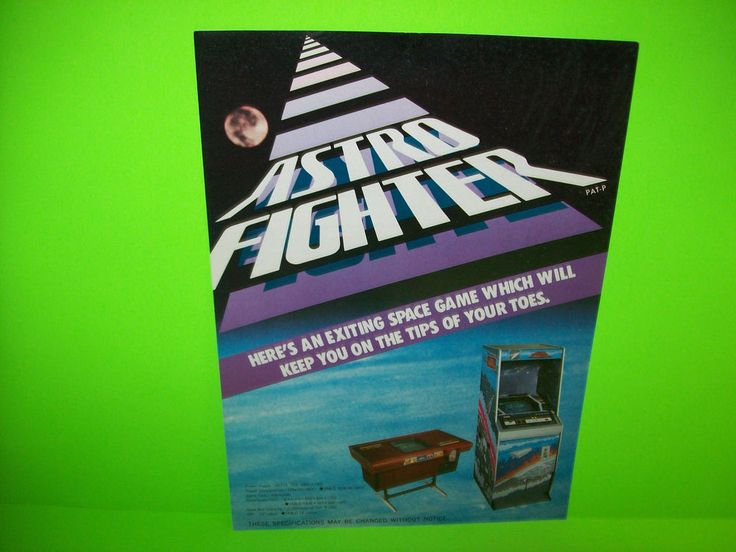 Data East ASTRO FIGHTER 1980 Original Video Arcade Game Sale Flyer Japan Version #DataEastAstroFighter