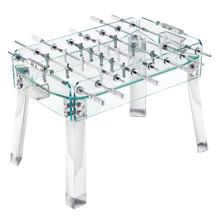 Contropiede Crystal Foostable by Teckell in White   From a unique collection of antique and modern games at https://www.1stdibs.com/furniture/more-furniture-collectibles/games/