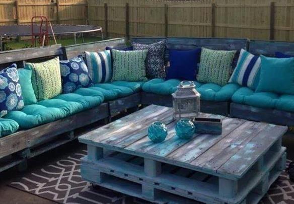 Salon De Jardin Avec Palettes | Diy pallet sofa, Pallet ...