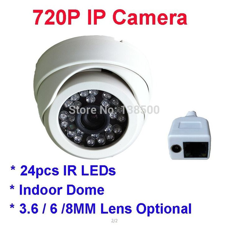Free Shipping ONVIF 1280*720P HD 1.0MP Mini Dome IP Camera Outdoor/ Indoor Waterproof Plastic IR 2pcs Packed
