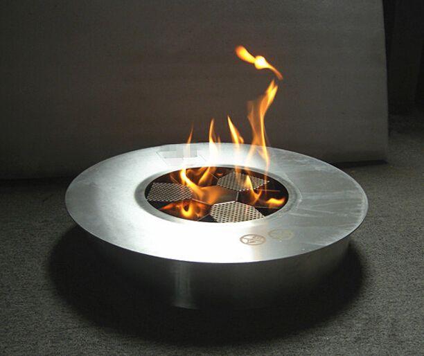 Round Bio ethanol fireplace burner eco fire for home decor