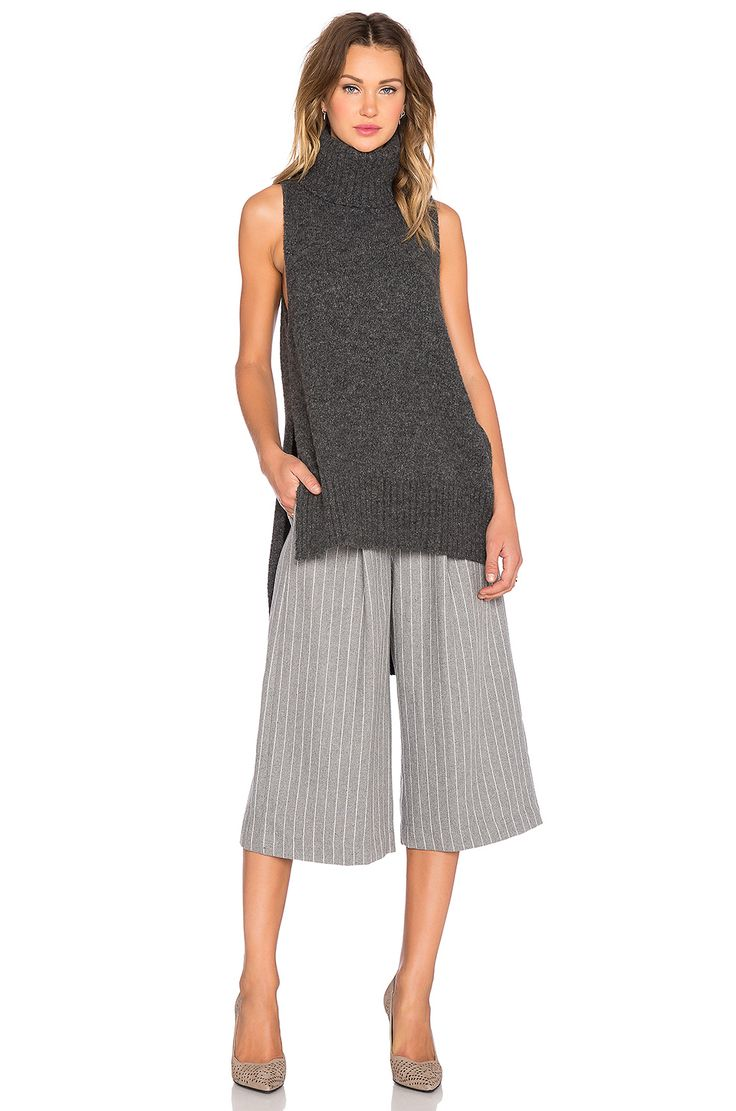C/MEO The Days Culotte Pant in Pinstripe
