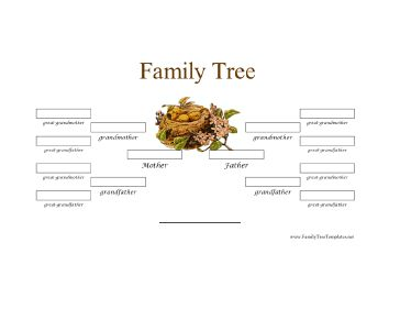 blank family tree template 3 generations